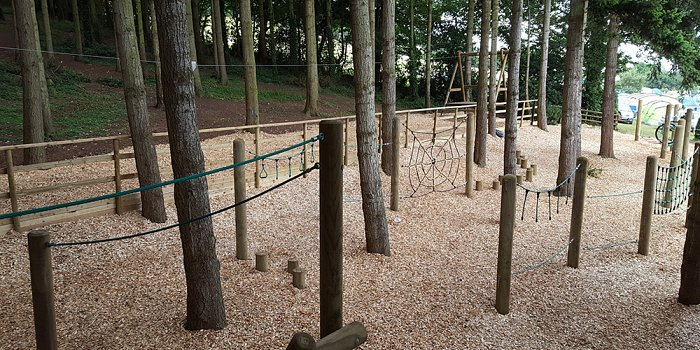 Completed woodland play area at Cofton Holidays...